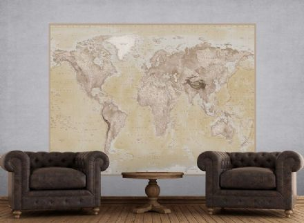 Brown map of the World wallpaper